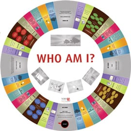 The Who Am I? game board