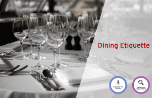 Classrooms to Careers Series: Dining Etiquette @ 103 McLaughlin College