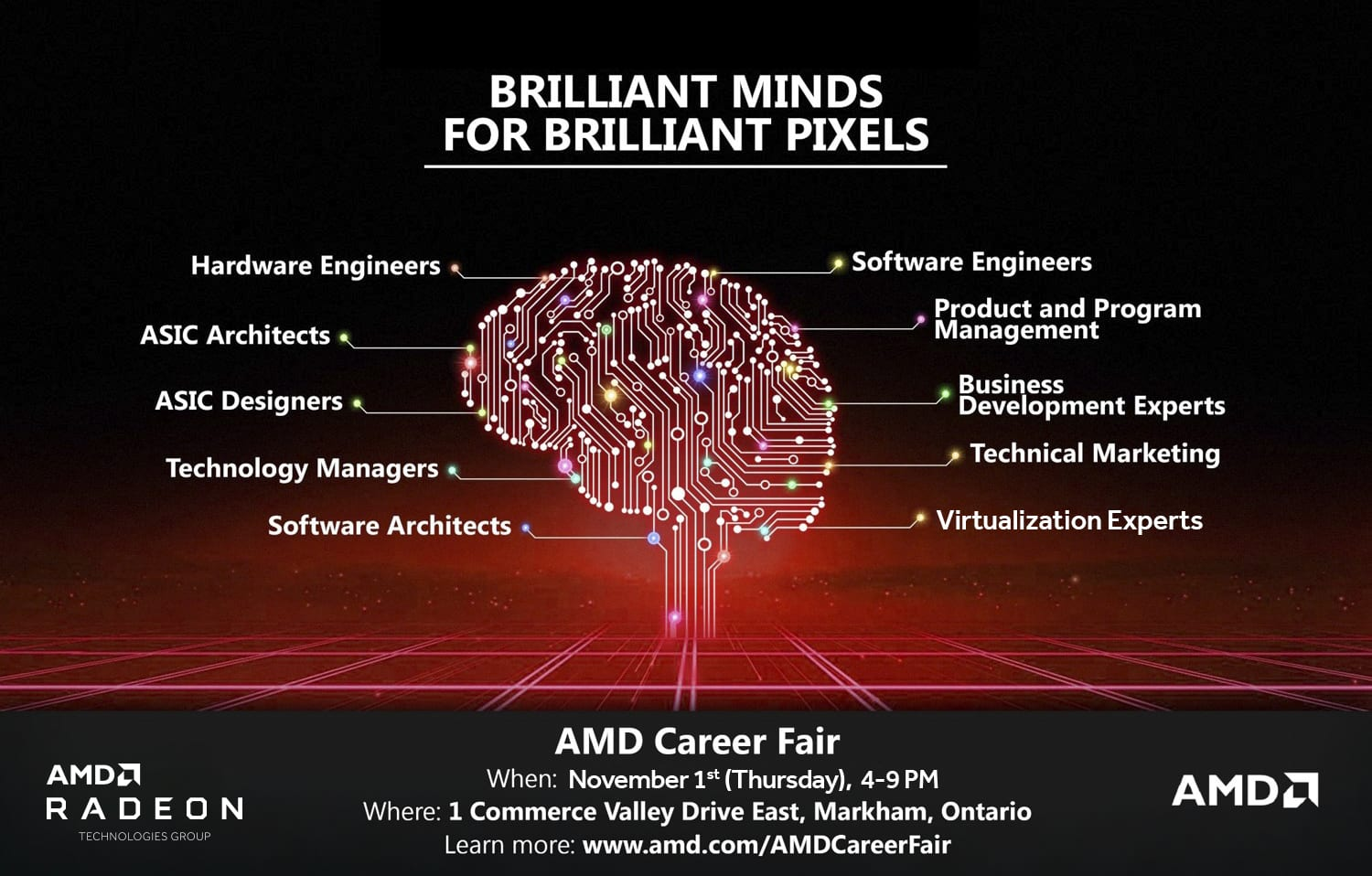 AMD Career Fair 2018 -Nov 1, 4-9PM at 1 Commerce Valley Drive East, Markham