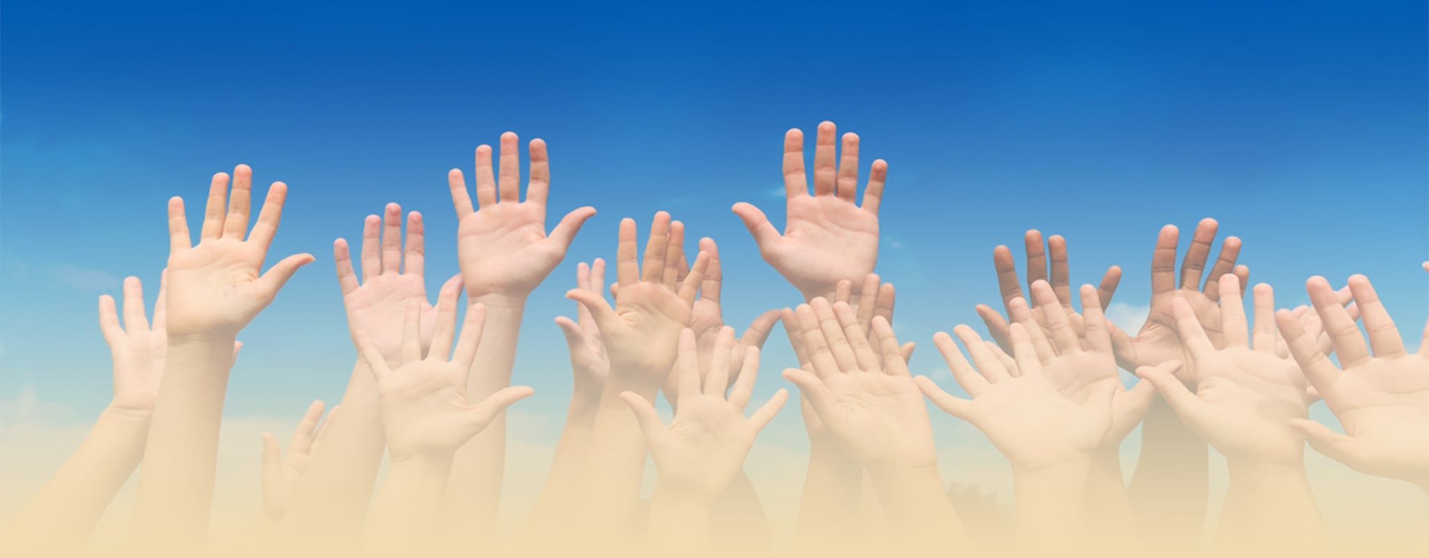 Helping Hands with Gradient Overlay