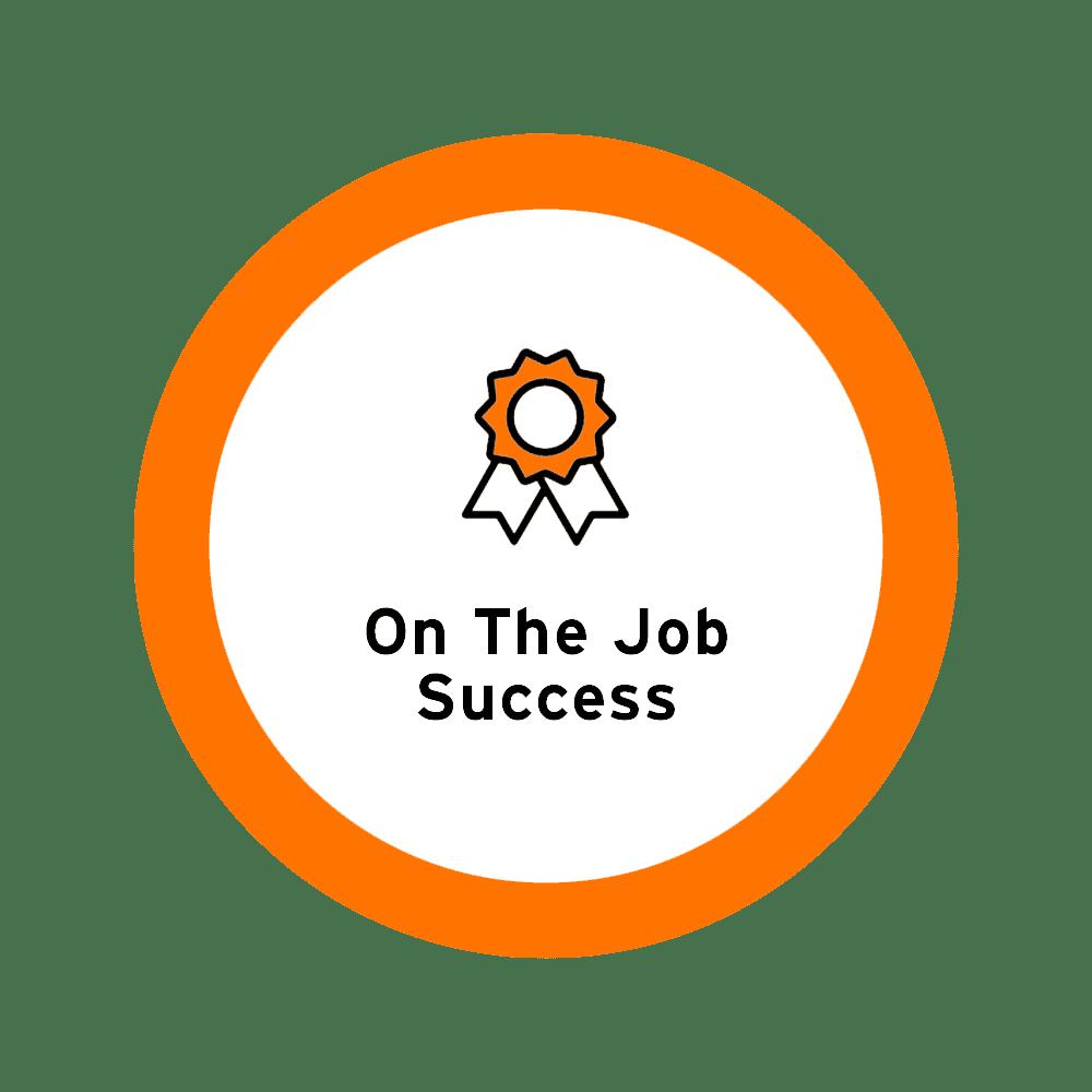 On the job success icon