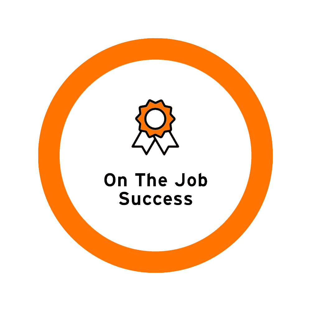 On the job success icon