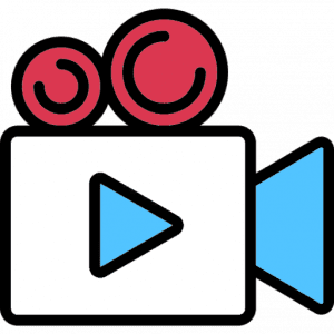 Video camera icon - link to a video