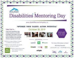 External Event: Dolphin Disabilities Mentoring Day (For Students with Disabilities only) @ www.disabilitiesmentoringday.ca