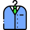 Icon shows a suit in hanger