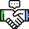 Icon showing handshake