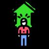 Icon shows a person with upward arrow