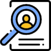 Icon that shows magnifying glass