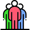 Icon showing a group of people