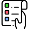 icon showing a list of things to do