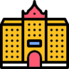Icon showing a building
