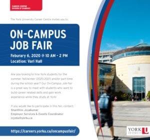 On-Campus Job Fair @ Vari Hall