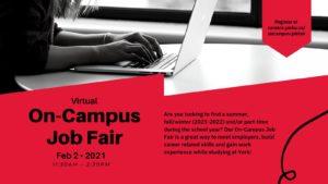 Virtual On-Campus Job Fair @ Virtual