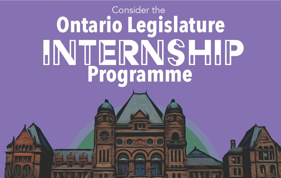 Employer Recruitment Event: Ontario Legislature Internship Programme @ Virtual