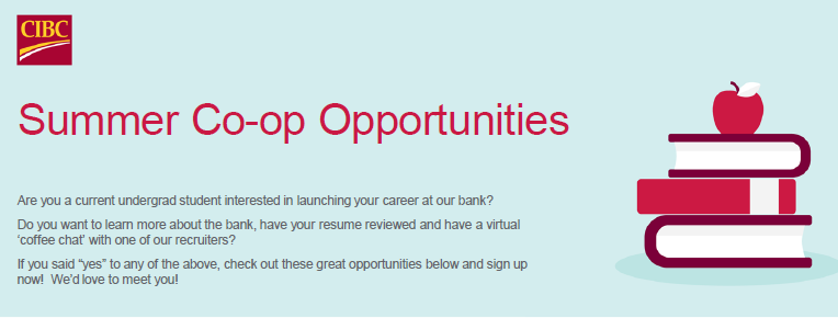 CIBC Summer Co-op opportunities