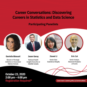 Career Conversations: Discovering Careers in Statistics and Data Science @ Virtual Event
